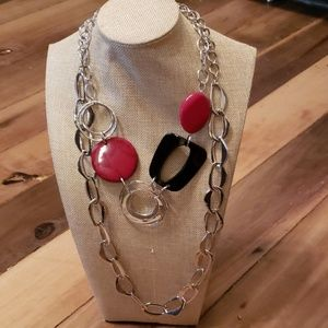 Two CHICO'S Silverstone Necklaces